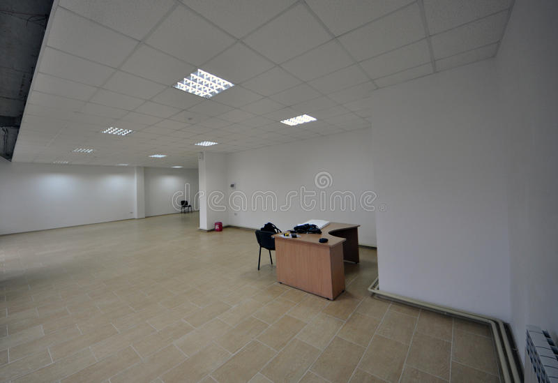 Office Inexpensive. Interior of inexpensive office with open space stock photos