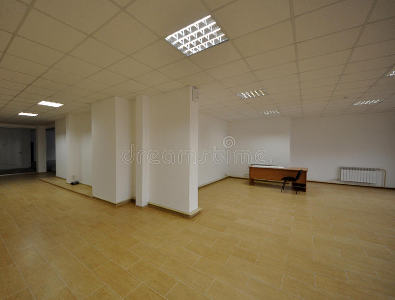 Office Inexpensive. Interior of inexpensive office with open space royalty free stock image