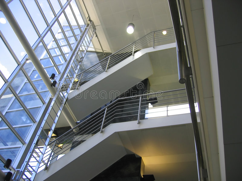 Office stairs. Stairs inside an office building stock images
