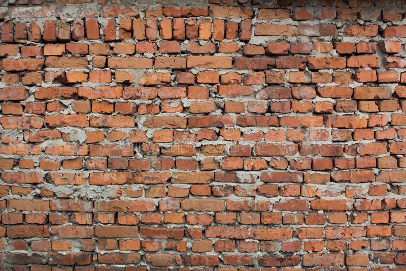 Old brick wall background. The loft-style. Brickwork Wallpaper and background stock photos