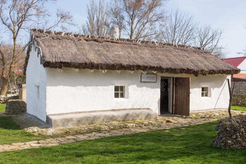 Old house - hut, house-museum exhibit in memory of the great Russian poet of stay MY Lermontov