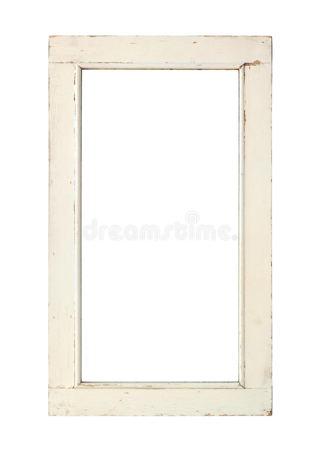 Old window frame royalty free stock photos