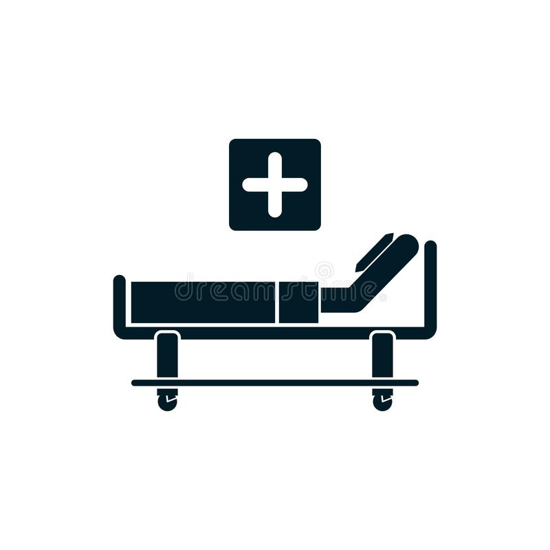 Patient bed icon hospital vector stock illustration