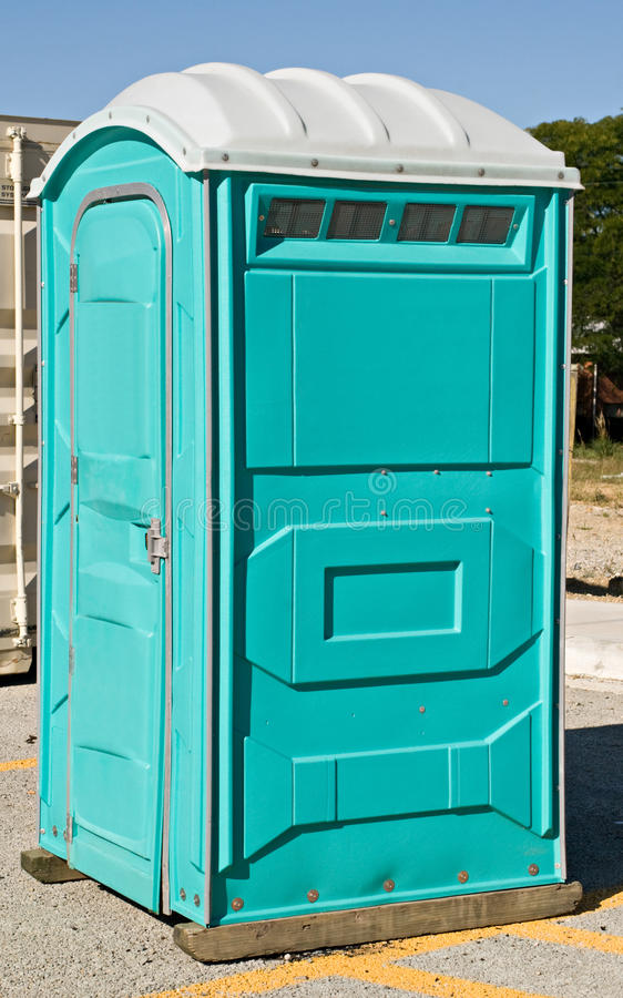 Portable Toilet. Movable outdoor toilet known as a port-a-john royalty free stock photo