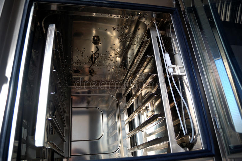 Professional kitchen, oven detail. Combi oven detail, professional kitchen royalty free stock photos