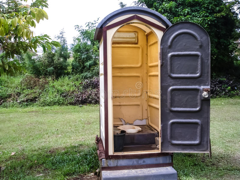 Public toilet. The old toilet in park royalty free stock image
