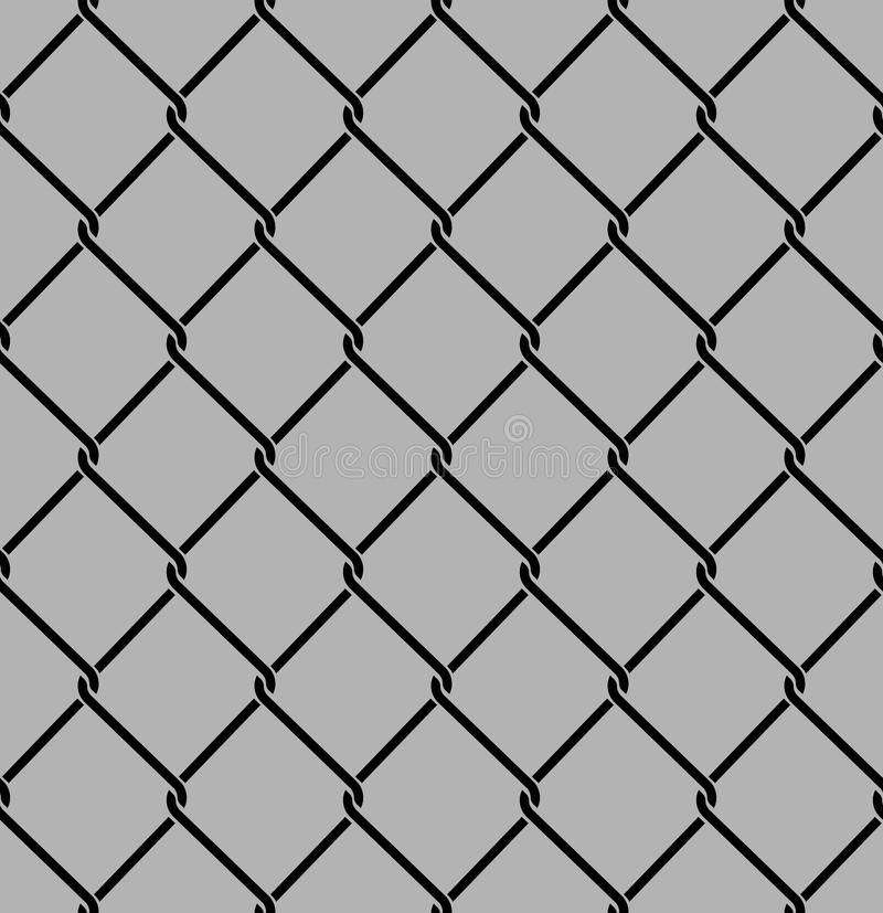 Rabitz seamless pattern. Mesh netting ornament. Mesh fence background.  royalty free illustration