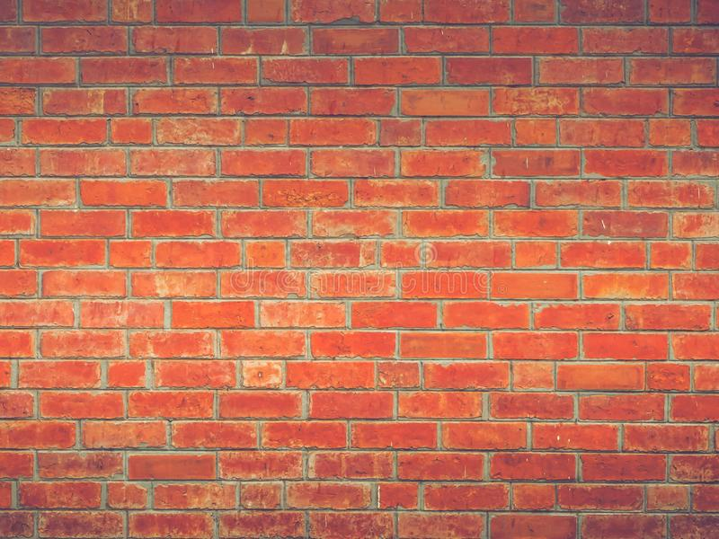 Red brick wall simple beautiful vintage loft style of decoration texture background stock photos
