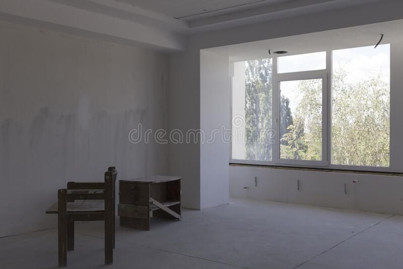 Repair of the room stock photography