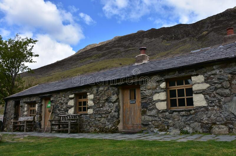 Rugged Rural Black Sail Youth Hostel in England stock photo