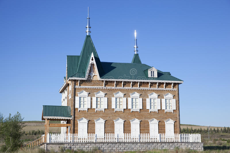 Russian style house. In Manchuria city of China royalty free stock photos