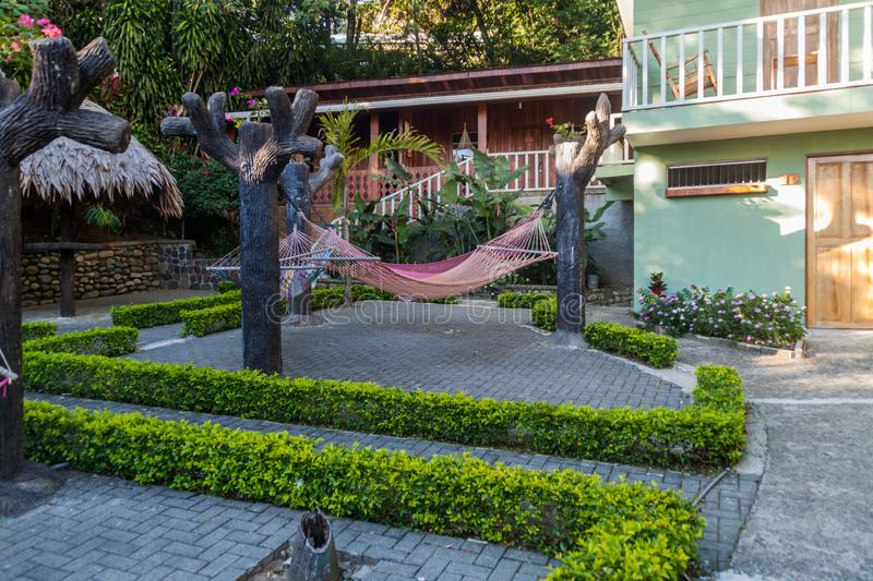 SANTA ELENA, COSTA RICA - MAY 11, 2016: Garden of Santa Elena Hostel Resor royalty free stock photo
