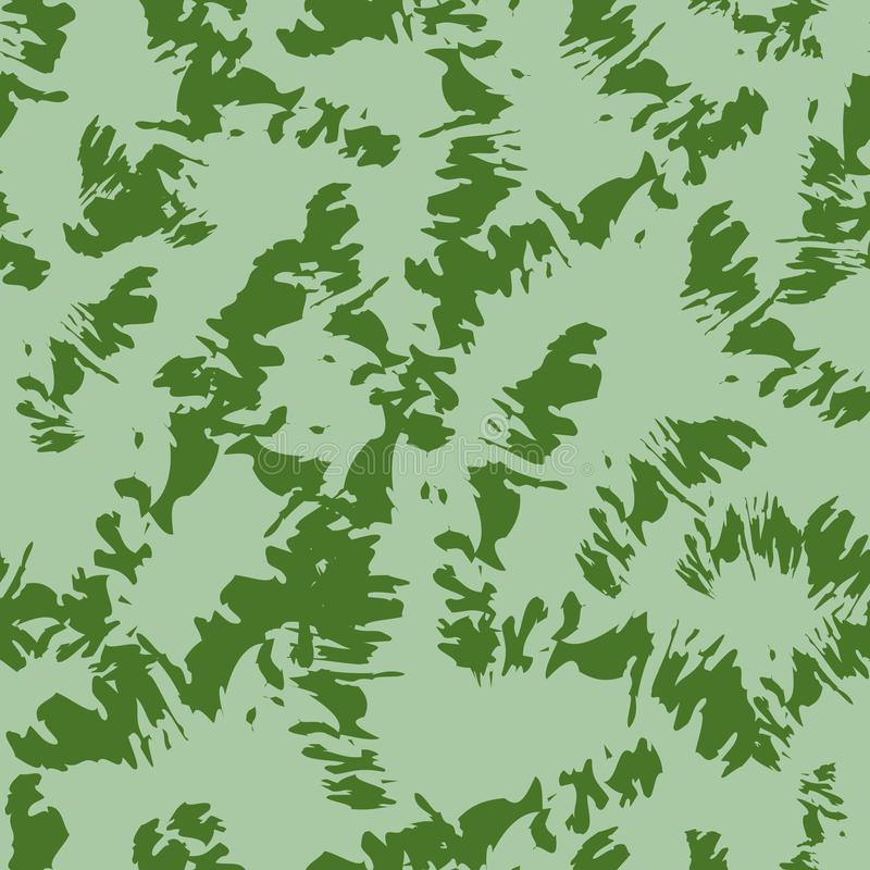 Abstract pattern of green tones, craquelure. vector illustration