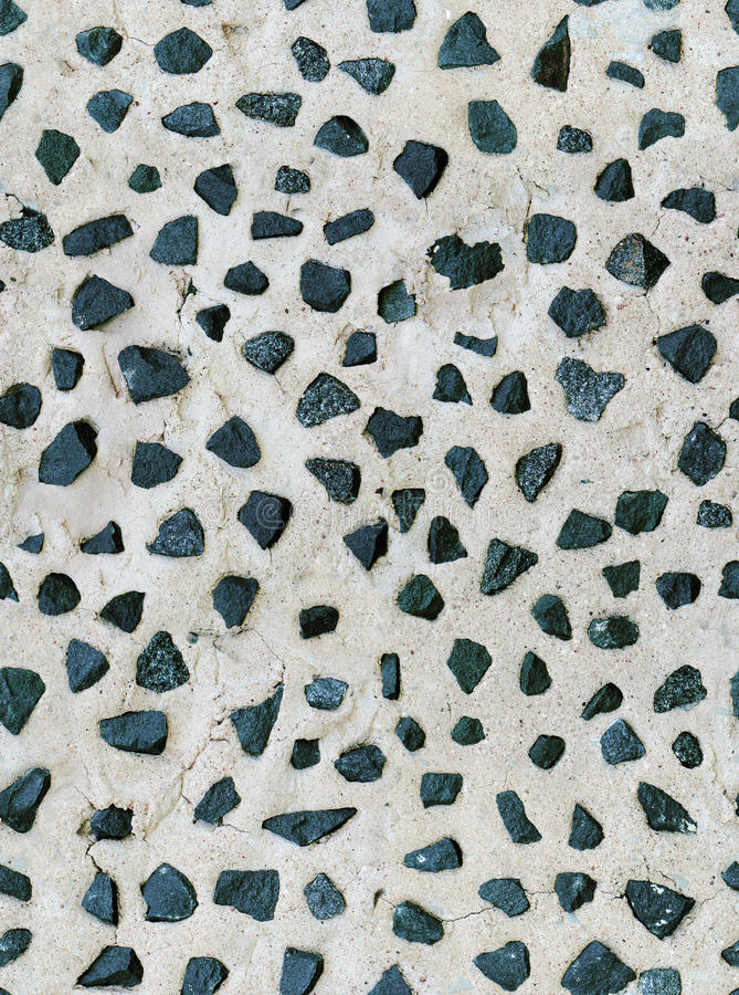 Seamless old plaster wall texture, pieces granite stock images