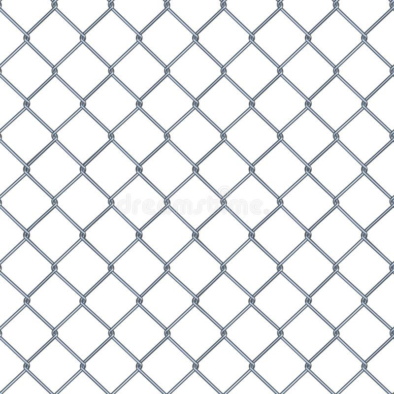Seamless texture of steel mesh Netting on the white background. Seamless texture chrome mesh Netting on isolated background. 3D illustration vector illustration
