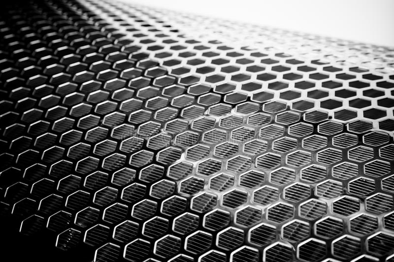 Silver Metal Mesh. Close up of Silver Metal Mesh stock photo