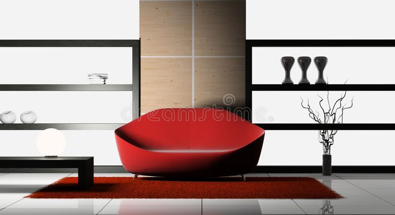 Sofa in the room royalty free illustration