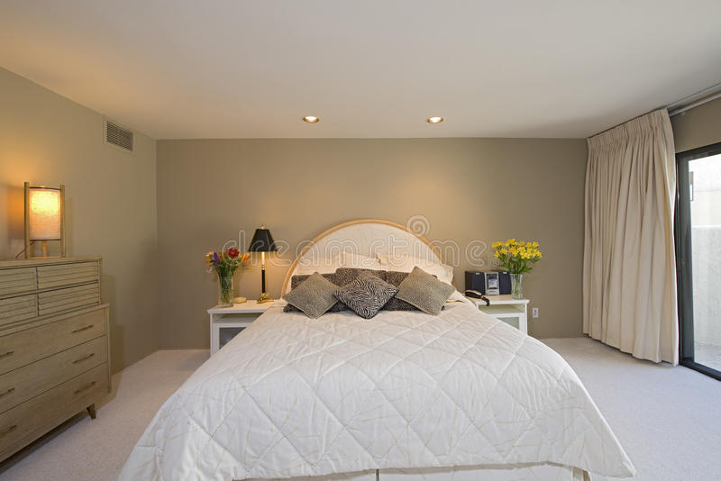Spacious Bedroom In House stock photo