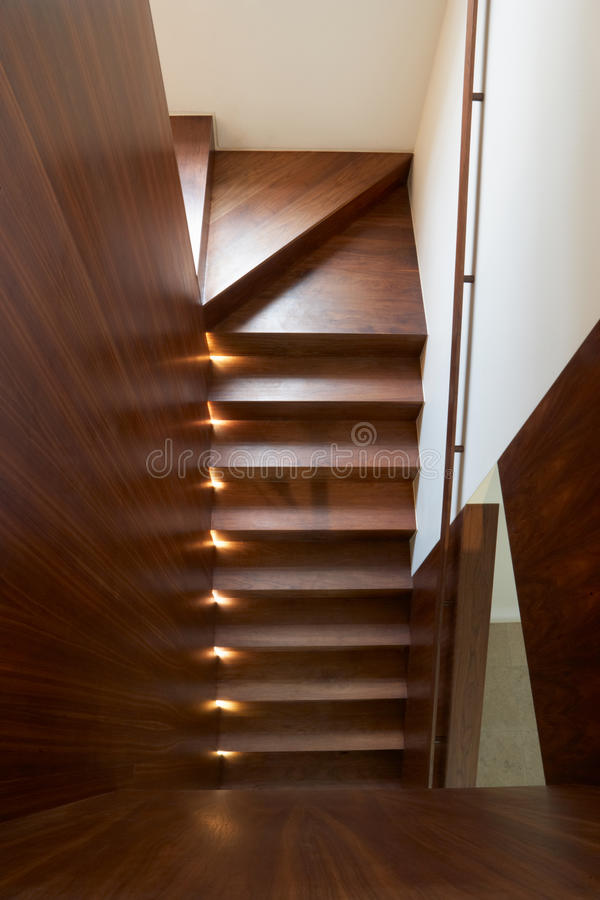 Staircase Inside Modern House stock photo
