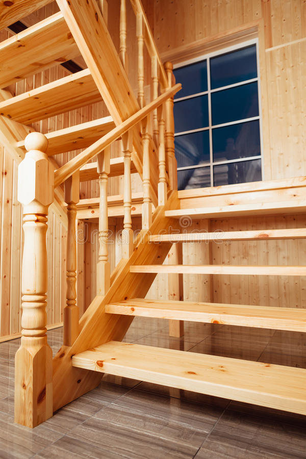 Staircase and window inside of house stock photography