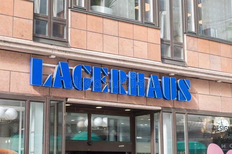 Lagerhaus logo and sign. Stockholm, Sweden - September 24, 2019: Lagerhaus logo and sign. Lagerhaus is a homeware chain that offers its customers practical and stock photo