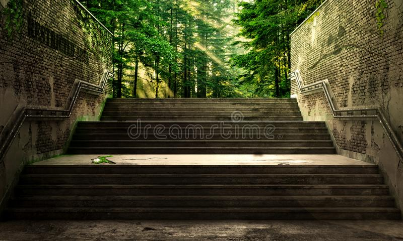 Success concept. Upstairs to the future vector illustration
