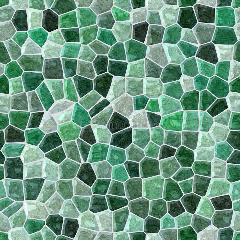 Surface floor marble mosaic seamless background with gray grout - emerald green color. Surface floor marble mosaic pattern seamless background with gray grout vector illustration