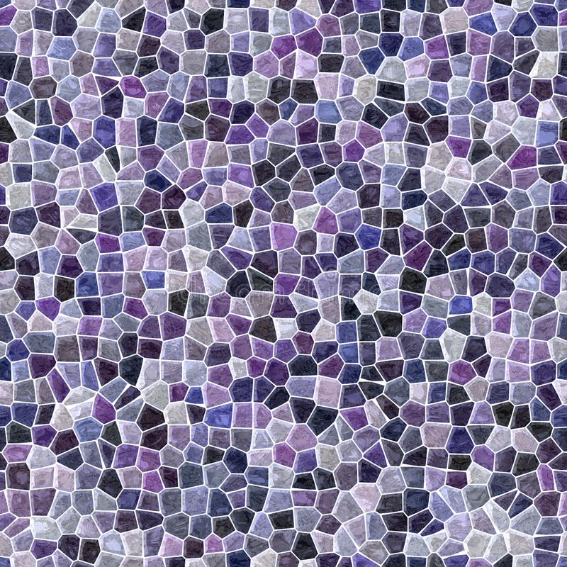 Surface floor marble mosaic seamless background with white grout - purple violet black color. Surface floor marble mosaic pattern seamless background with white vector illustration