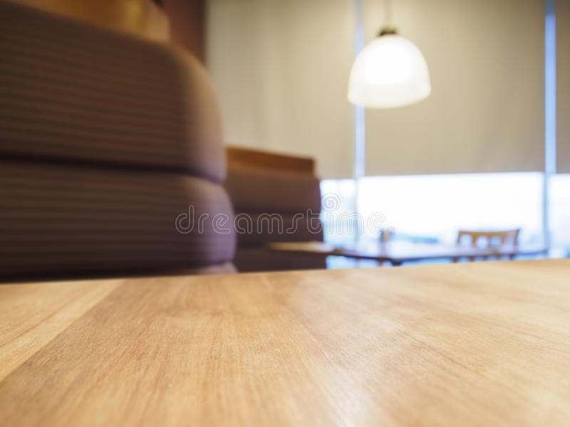 Table top counter bar with sofa seating light decoration royalty free stock photos
