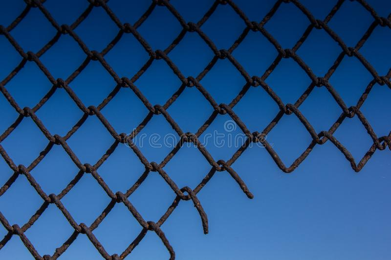 Texture mesh netting. Background fence. Transparent fence. Iron mesh chain-link. Texture mesh netting. Background fence. Transparent fence. Fencing Iron mesh royalty free stock photos