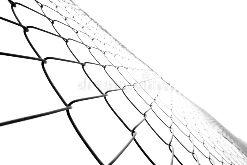 Texture mesh netting isolated. Rabitz on a white background with perspective stock illustration