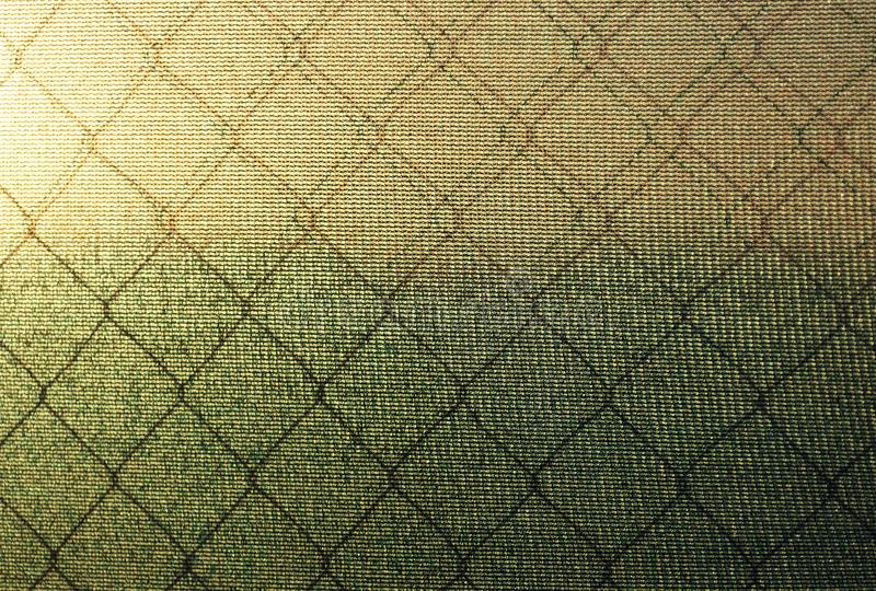 Texture of polycarbonate and with mesh netting against the backdrop. The texture of polycarbonate and with mesh netting against the backdrop of the sea and the royalty free stock photography