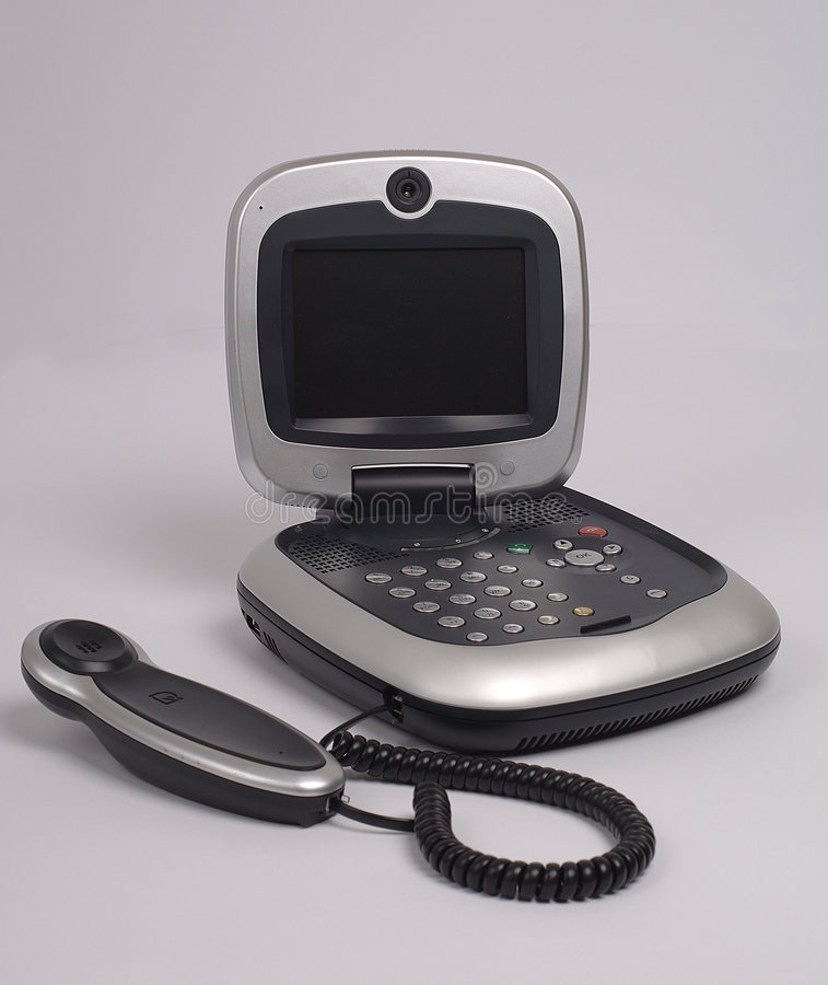 Video phone royalty free stock photo