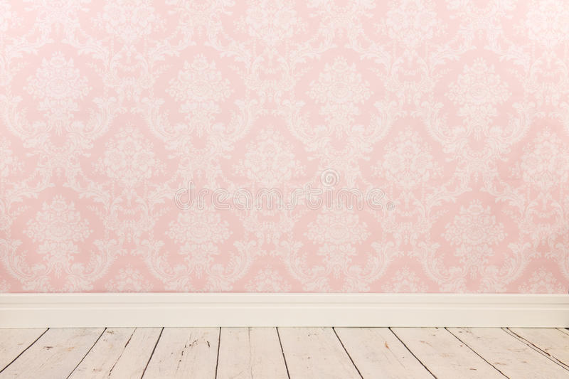 Vintage wall and wooden floor royalty free stock images