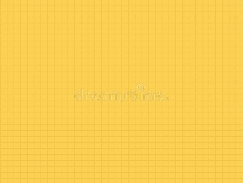 Wall of yellow tile vector flat isolated royalty free illustration