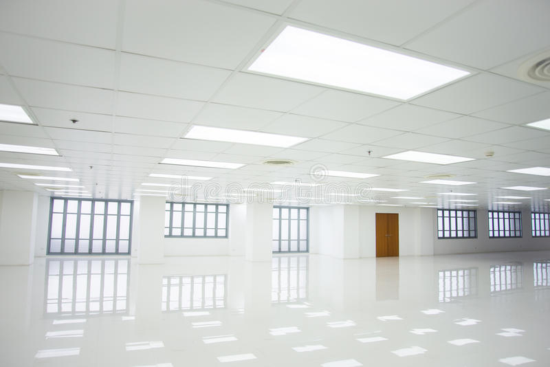 White room and empty space with windows royalty free stock photography
