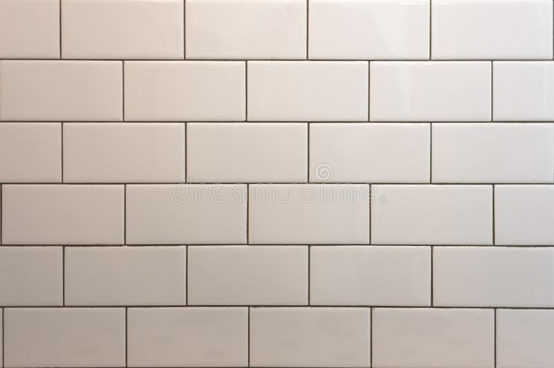 White Subway Tile With Black Grout. Background Image royalty free stock image