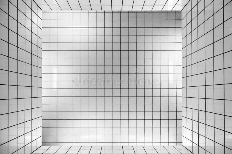 White tiles. Close up of white tiles royalty free illustration