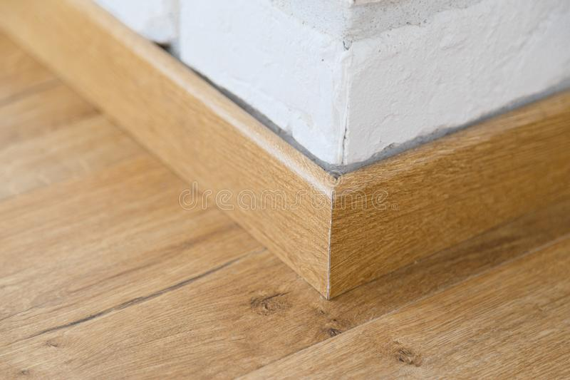 Wooden floor plinth royalty free stock photo