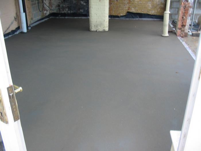 concrete screed for warm water floor