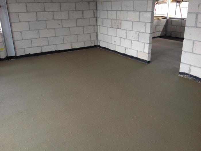 screed for water warm floor composition