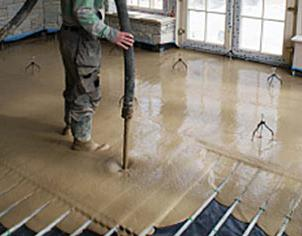 the minimum screed for water warm floor
