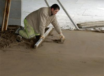 height of the screed for water warm floor