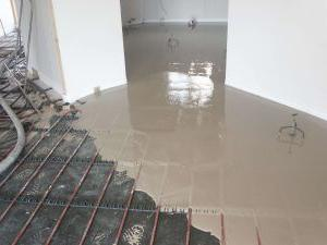 dry screed for water warm floor